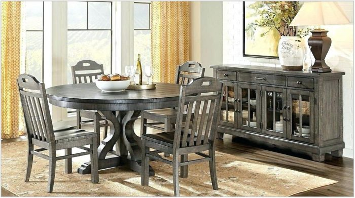 Gray Wood Dining Room Sets