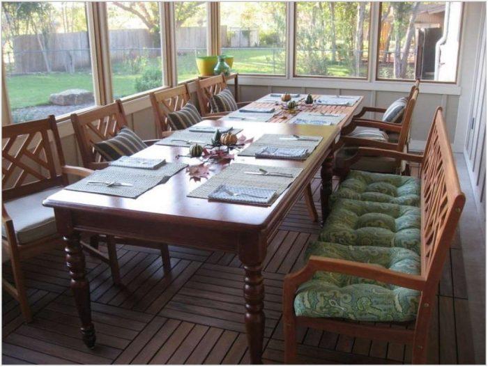 Long Narrow Dining Room Table