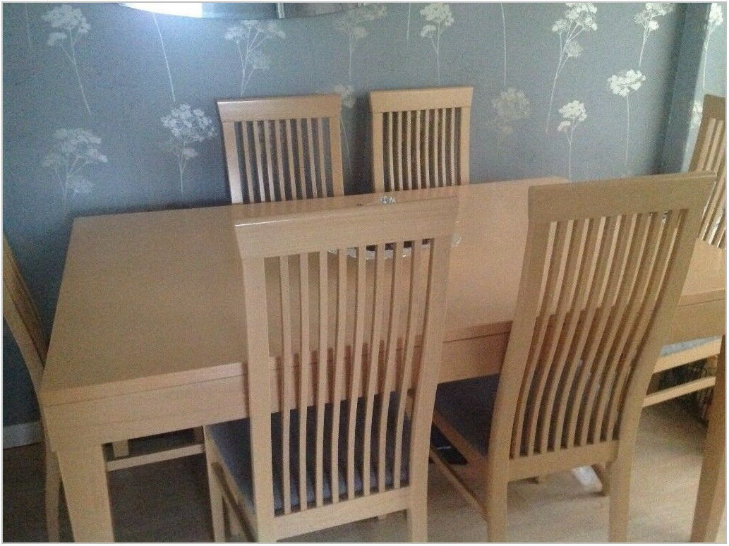 Maple Wood Dining Room Chairs