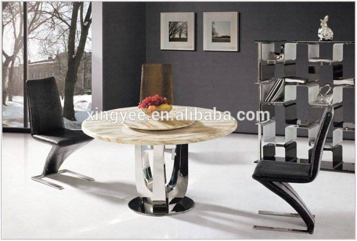 Marble Glass Dining Room Table