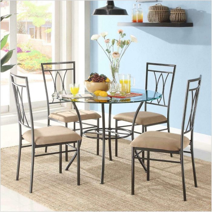 Metal Dining Room Table Chairs